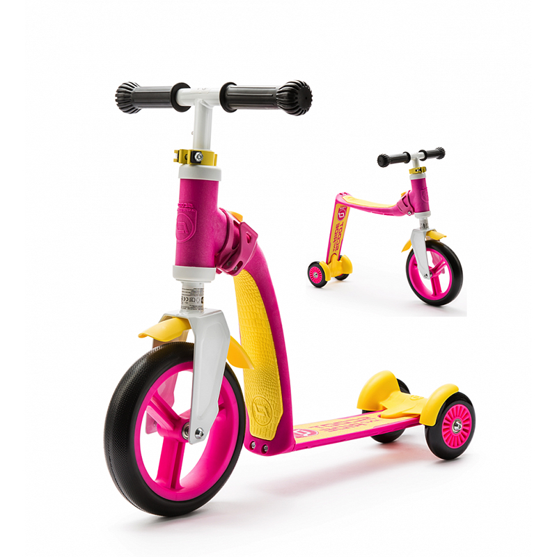 Самокат Scoot&Ride Highway Baby Plus Yellow-Pink