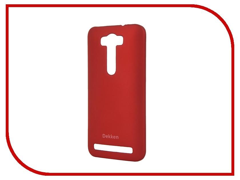 Аксессуар Чехол ASUS ZenFone 2 Laser ZE500KL Dekken Soft Touch Red 20338<br>