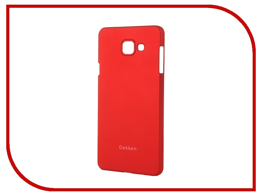 Аксессуар Чехол-накладка для Samsung Galaxy A7 2016 Dekken Soft Touch Red 20332 аксессуар чехол накладка dekken для apple iphone 4 4s transparent 20223