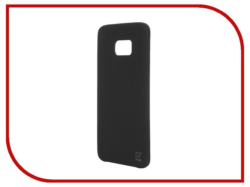 Аксессуар Чехол-накладка Samsung Galaxy S7 Edge Anymode Silicone Bumper Black FA00207KBK<br>