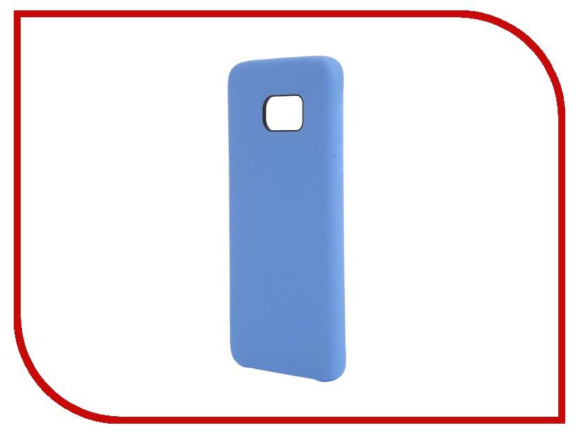 Аксессуар Чехол-накладка Samsung Galaxy S7 Edge Anymode Silicone Bumper Blue FA00036KBL<br>