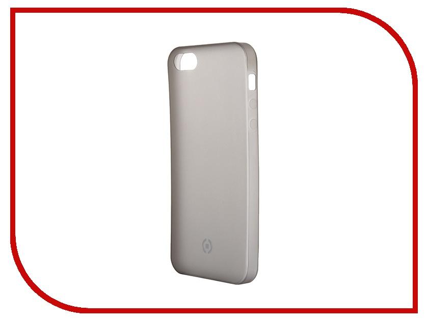 Аксессуар Чехол Celly Frost для APPLE iPhone 5/5S/SE Grey FROSTIPH5BK<br>