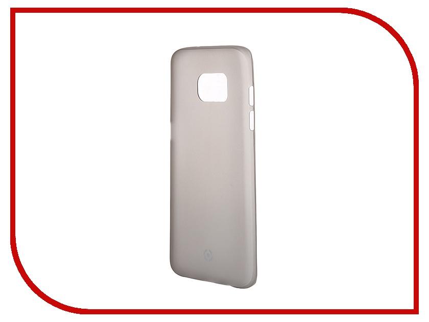 Аксессуар Чехол-накладка Samsung Galaxy S7 Edge Celly Frost Grey FROSTS7EBK<br>