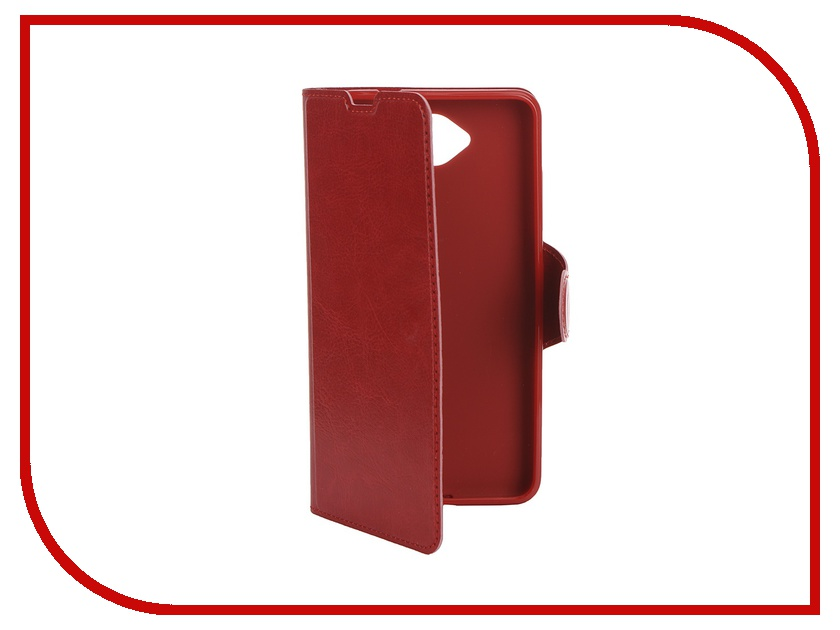 Аксессуар Чехол Microsoft Lumia 650 Red Line Book Type Sleek Red чехол книжка red line book для microsoft lumia 950