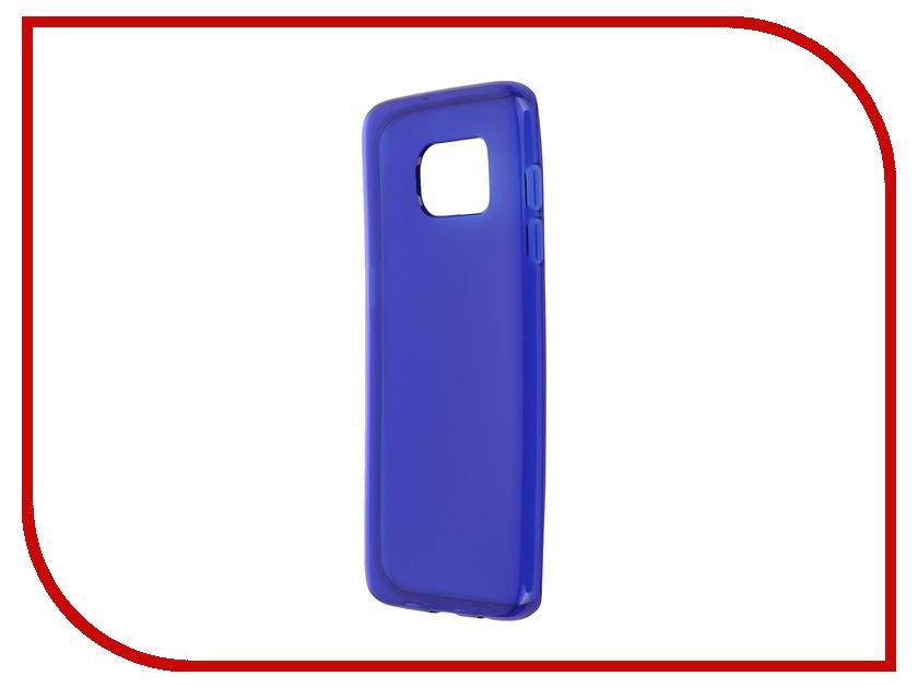 Аксессуар Чехол-накладка Samsung Galaxy S7 Edge iBox Crystal Blue<br>