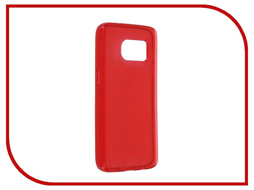 Аксессуар Чехол-накладка Samsung Galaxy S7 iBox Crystal Red<br>