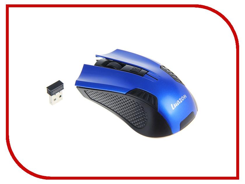 Мышь беспроводная Luazon L-041 Blue 1219949<br>