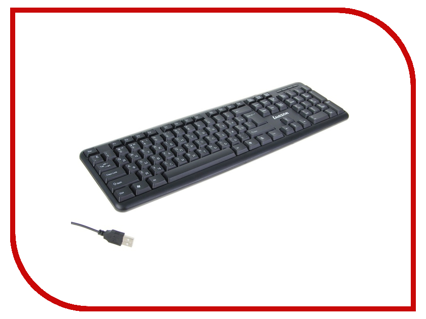 Клавиатура Luazon K-003 Black USB 1219931 фен luazon lf 04 1131114 black