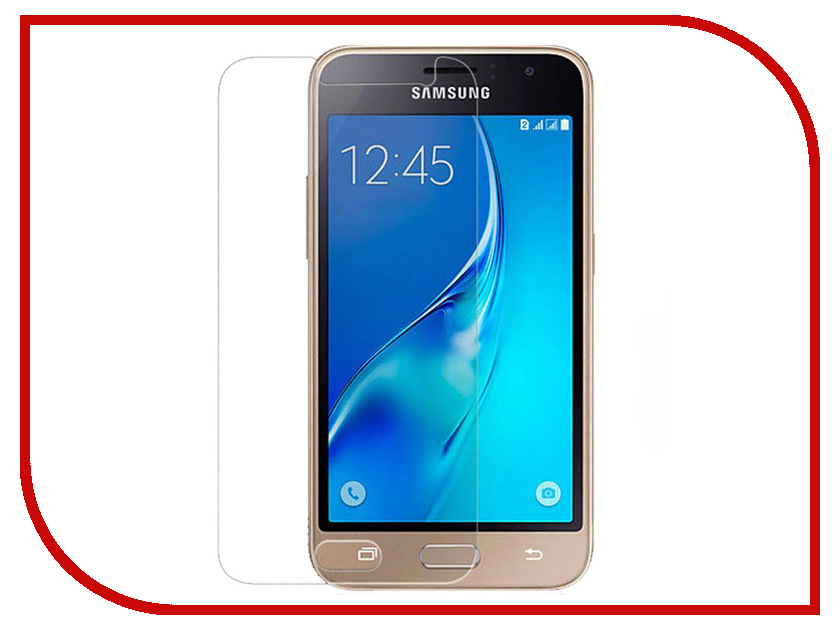 Аксессуар Защитная пленка для Samsung Galaxy J1 2016 4.5 Red Line УТ000008189 teeth trainer appliance j1 blue professional australia original teeth trainer children use j1