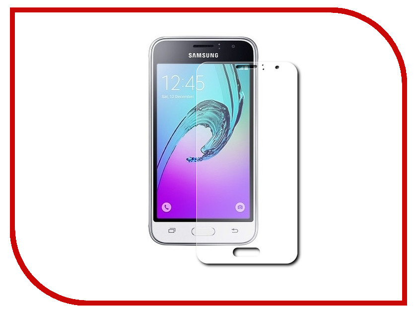 Аксессуар Защитная пленка Samsung Galaxy J1 mini 2016 4 Red Line аксессуар чехол samsung galaxy j1 mini j1 mini 2016 cojess book case new red