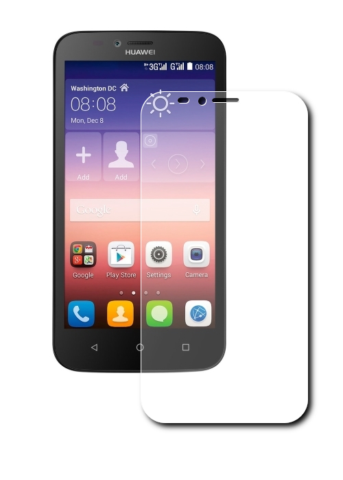 ��������� �������� ������ Huawei Ascend Y625 Red Line Tempered Glass