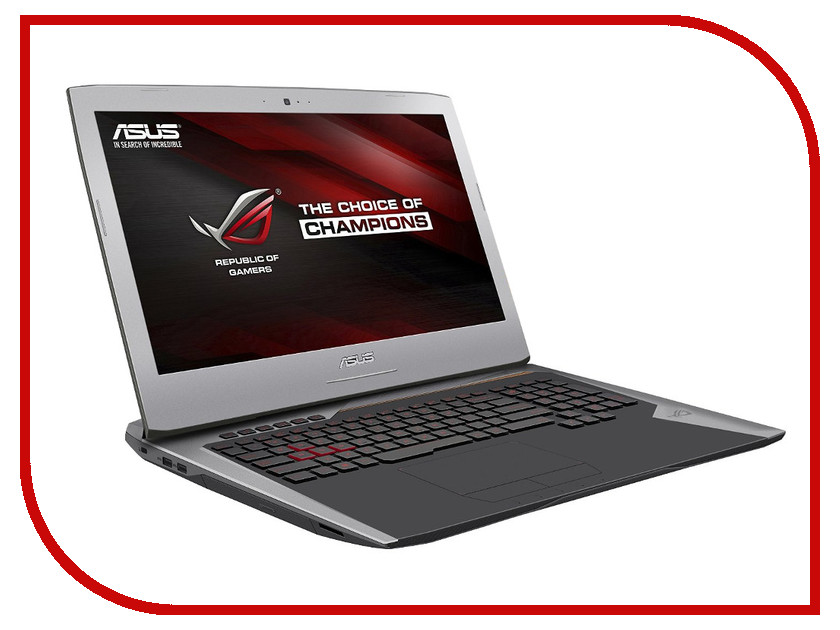 Ноутбук ASUS ROG G752VT-GC074D 90NB09X1-M01720 (Intel Core i7-6700HQ 2.6 GHz/8192Mb/2000Gb/DVD-RW/nVidia GeForce GTX 970M 3072Mb/Wi-Fi/Cam/17.3/1920x1080/DOS)