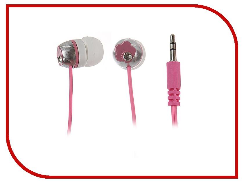 Наушники Kids-mobile Цветок Pink<br>