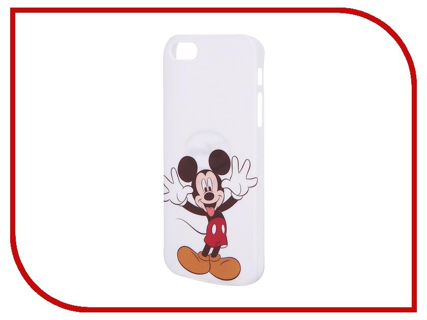 Аксессуар Крышка задняя Disney для iPhone 5 Марвел Микки White<br>
