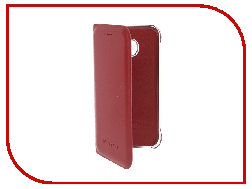 Аксессуар Чехол Samsung Galaxy S7 Activ Book Case S View Cover Wallet Red 58063<br>
