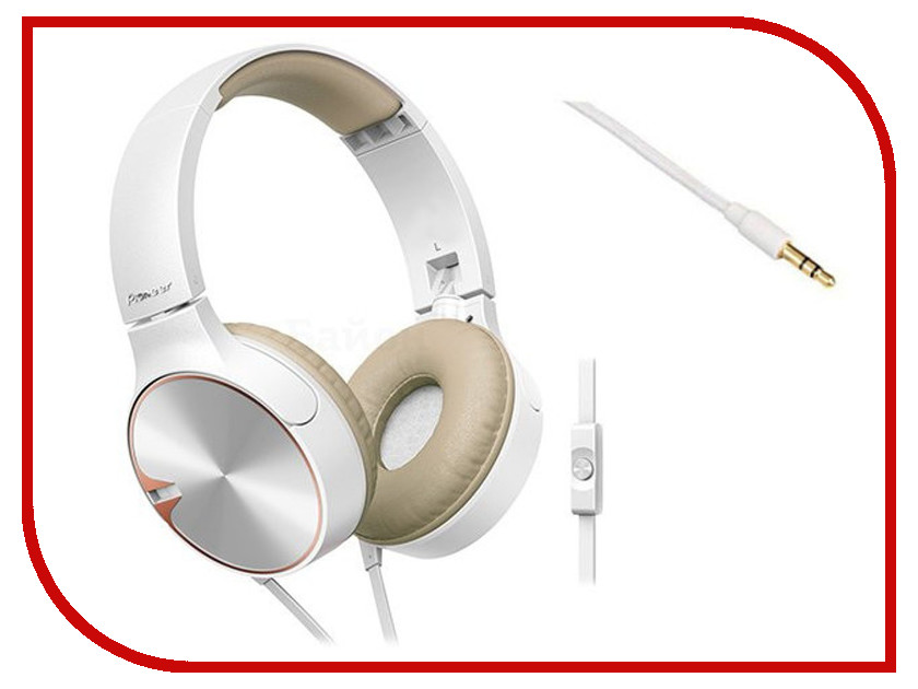 Гарнитура Pioneer SE-MJ722T-T White-Gold<br>