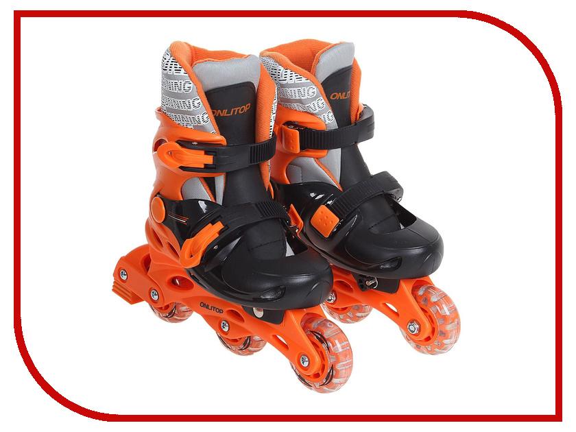 Коньки Onlitop PVC 64mm Orange-Black 38-41 1231443