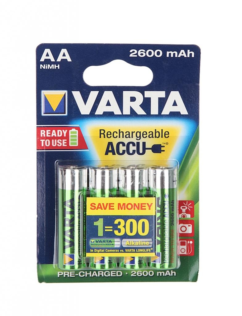 Аккумулятор AA - Varta R6 2600 mAh (4 штуки)<br>