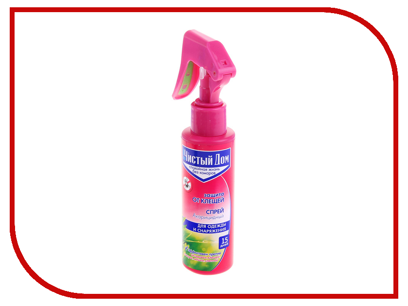 Средство защиты от клещей Чистый дом 1087410 - спрей от клещей с триггером средство защиты от комаров чистый дом летнее настроение 1087402