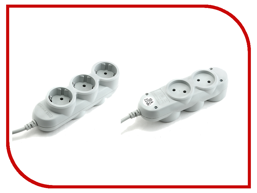 Сетевой фильтр Power Cube 5 Sockets 10A 3m PC-Y-5-32-3