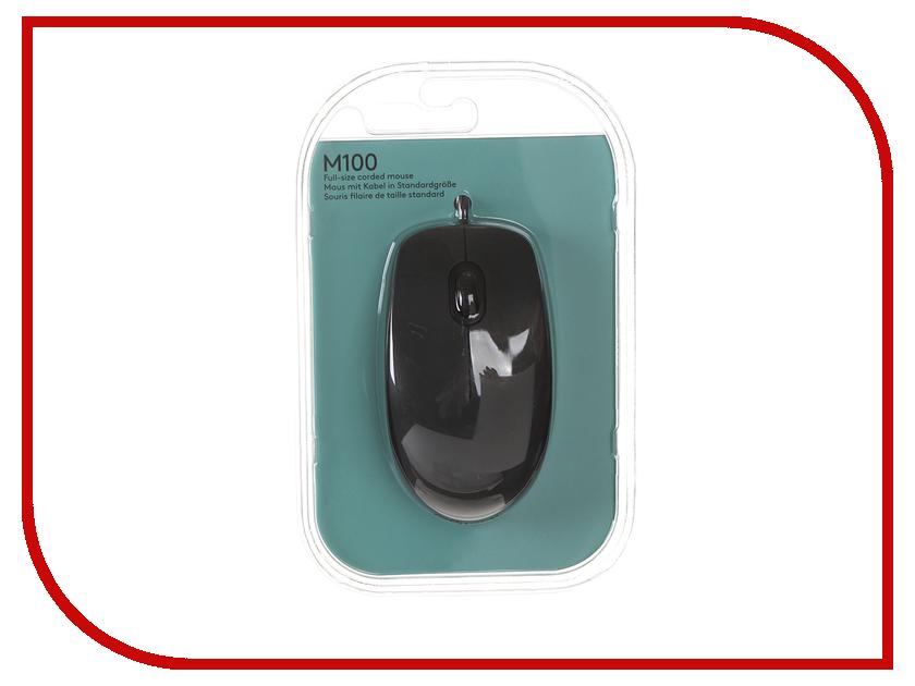 Мышь проводная Logitech M100 Black 910-001604