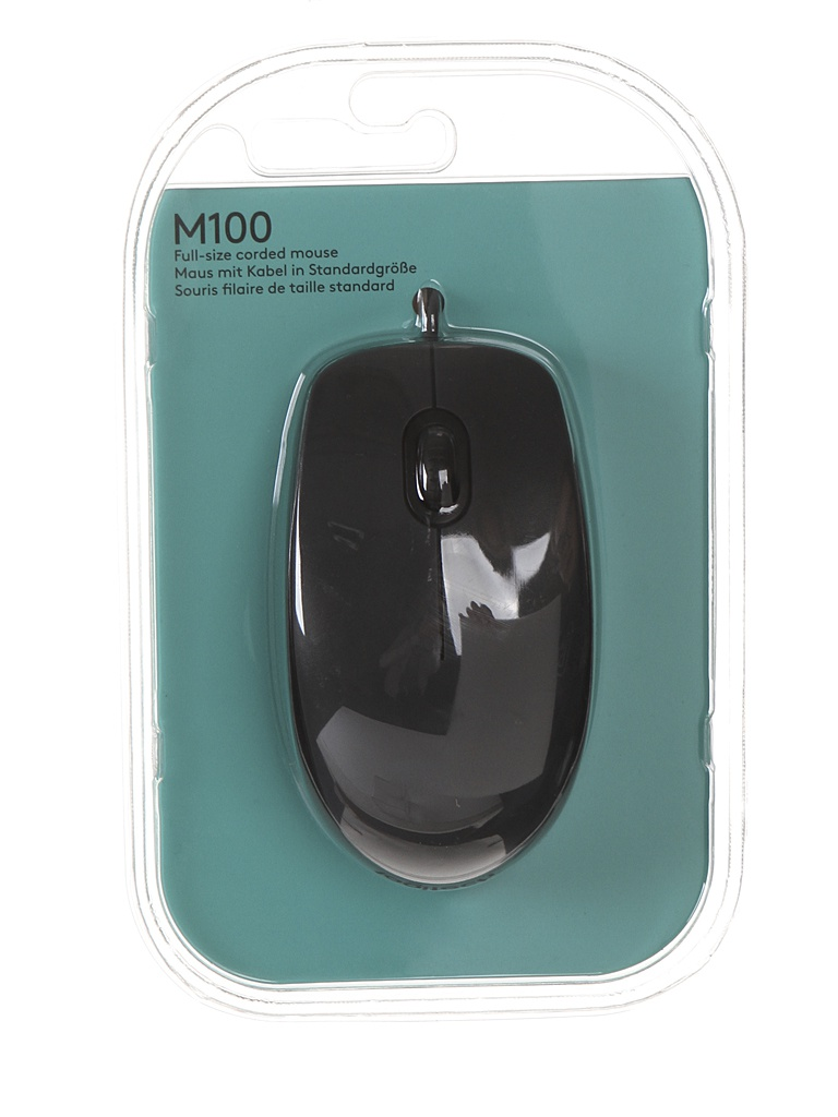 Мышь Logitech M100 Black 910-001604 / 910-005003
