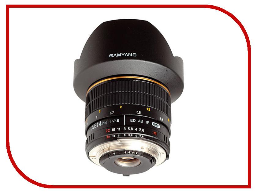 Объектив Samyang Nikon MF AE 14 mm F/2.8 AS ED IF UMC<br>