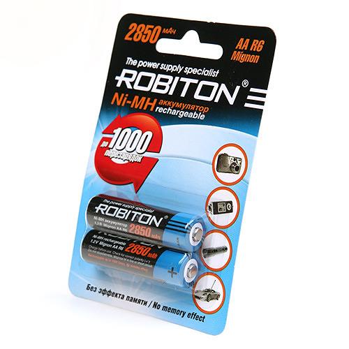 Аккумулятор AA - Robiton 2850 mAh Ni-MH (2 штуки) 10203