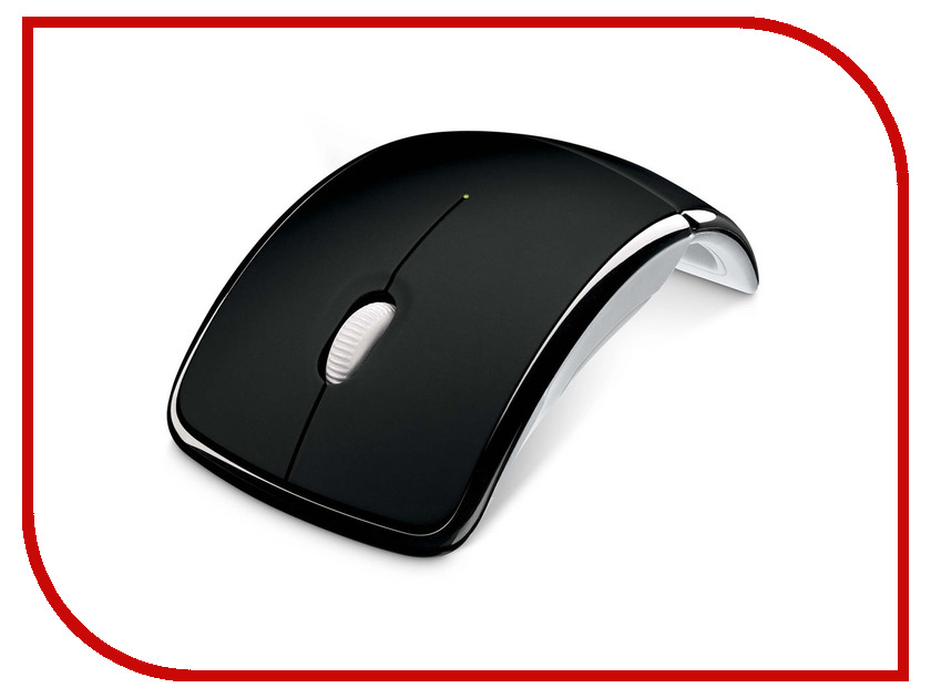 Мышь Microsoft Arc mouse Black USB microsoft sculpt mobile mouse black беспроводная мышь