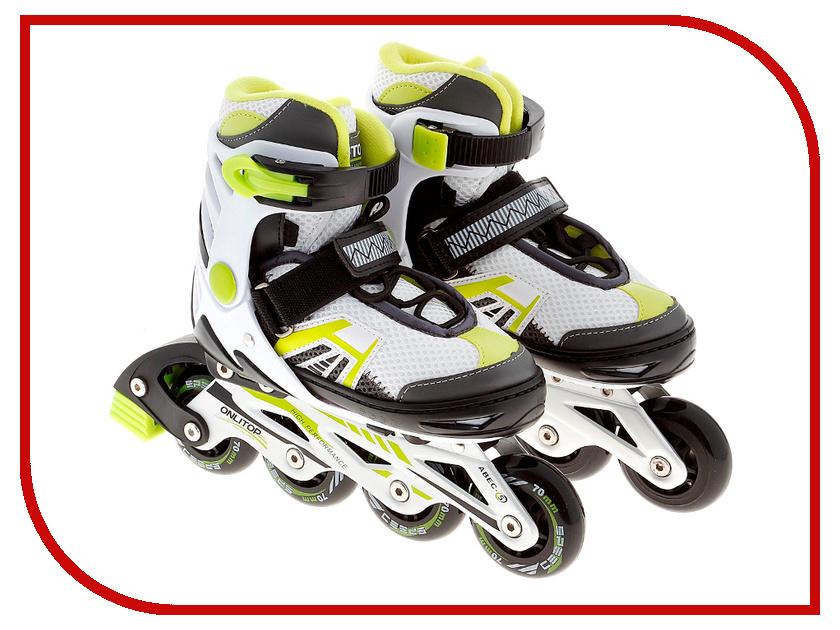 Коньки Onlitop ABEC-5 35-38 Green 869411 скейтборд shaun white 5 channel 31 5х8 abec 5