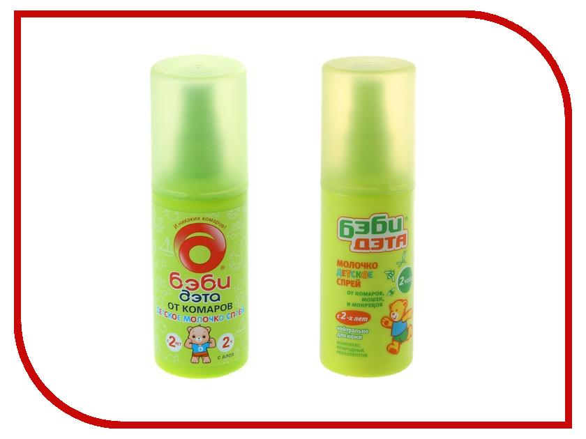 Средство защиты от комаров ДЭТА Бэби 100мл 730818 - молочко-спрей 766976 дэта