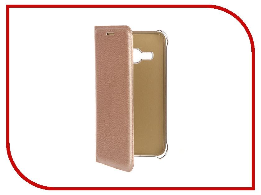 Аксессуар Чехол Samsung Galaxy J1 2016 ACQUA Wallet Extra Gold 53927
