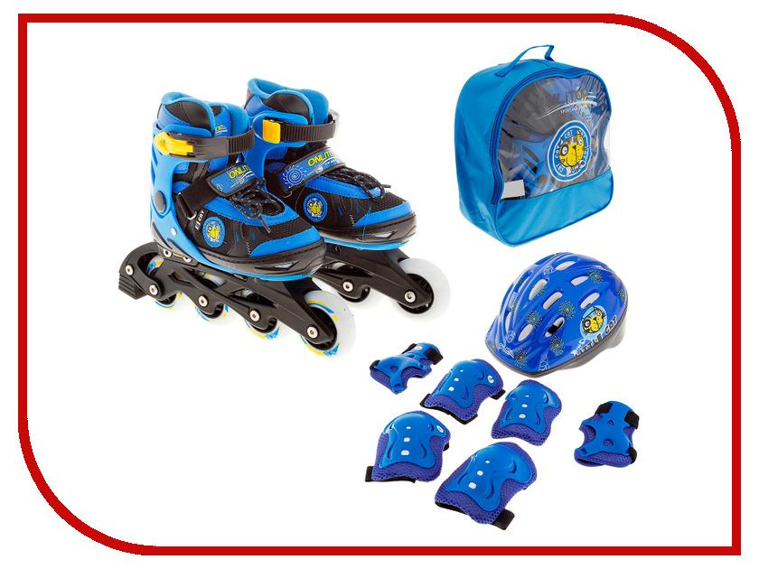 Коньки Onlitop ABEC-5 35-38 Blue 869370 + Защита скейтборд shaun white 5 channel 31 5х8 abec 5