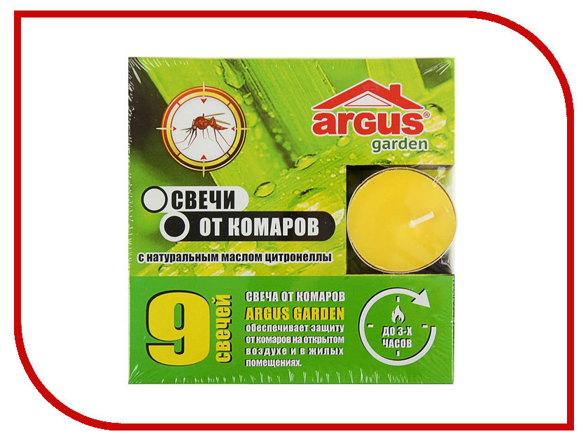 Средство защиты от комаров ARGUS свечи 9 шт 1374822