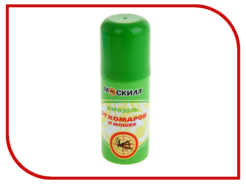 Средство защиты от комаров Москилл Аэрозоль 100мл 1119663 москитол защита для взрослых от комаров аэрозоль 100мл