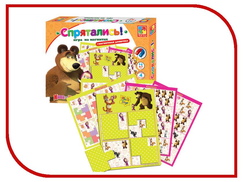 Настольная игра Vladi Toys Спрятались, Маша и медведь VT3304-09 vladi toys игра слышим видим нюхаем vladi toys