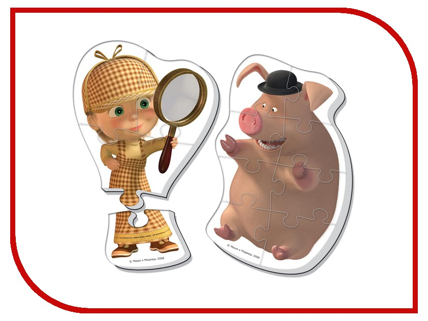 Игрушка Vladi Toys Мягкие пазлы Маша и Медведь Макси, Маша Шерлок Холмс VT1108-04