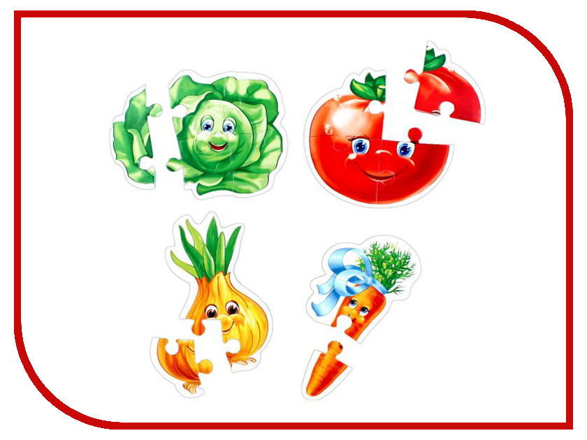 Игрушка Vladi Toys Baby puzzle Овощи VT1106-03