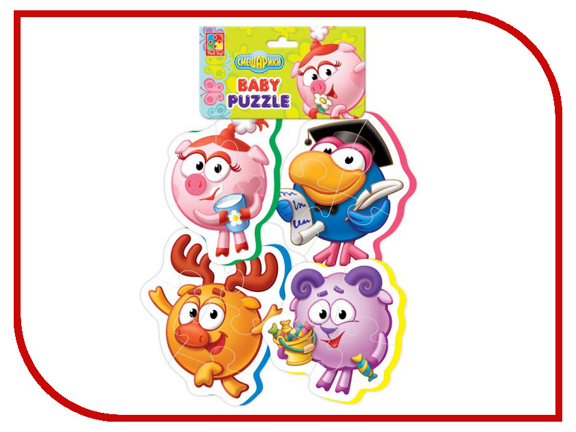 Игрушка Vladi Toys Baby puzzle Смешарики 3 VT1106-48<br>