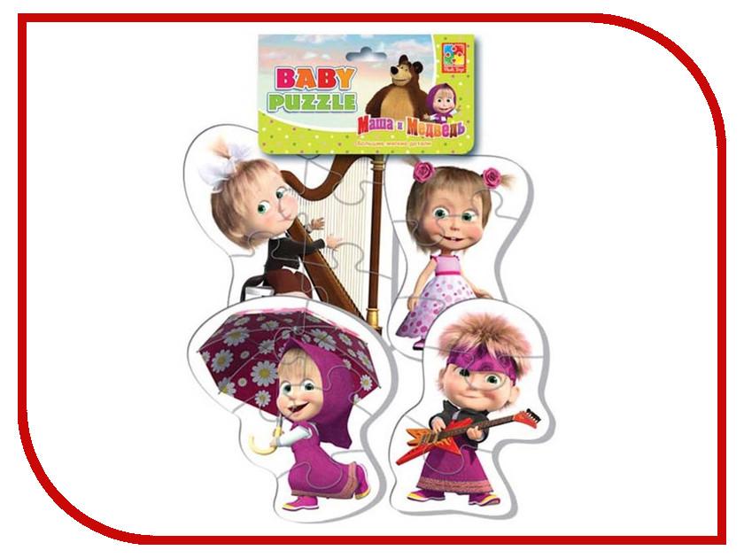 Игрушка Vladi Toys Baby puzzle Маша и Медведь, Маша разная VT1106-42
