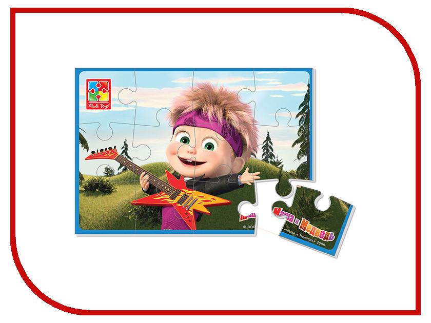 Игрушка Vladi Toys Мягкие пазлы Маша и Медведь, Маша с гитарой VT1103-31<br>