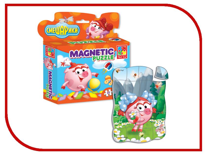 Игрушка Vladi Toys Магнитные фигурные пазлы Смешарики Нюша VT1504-28