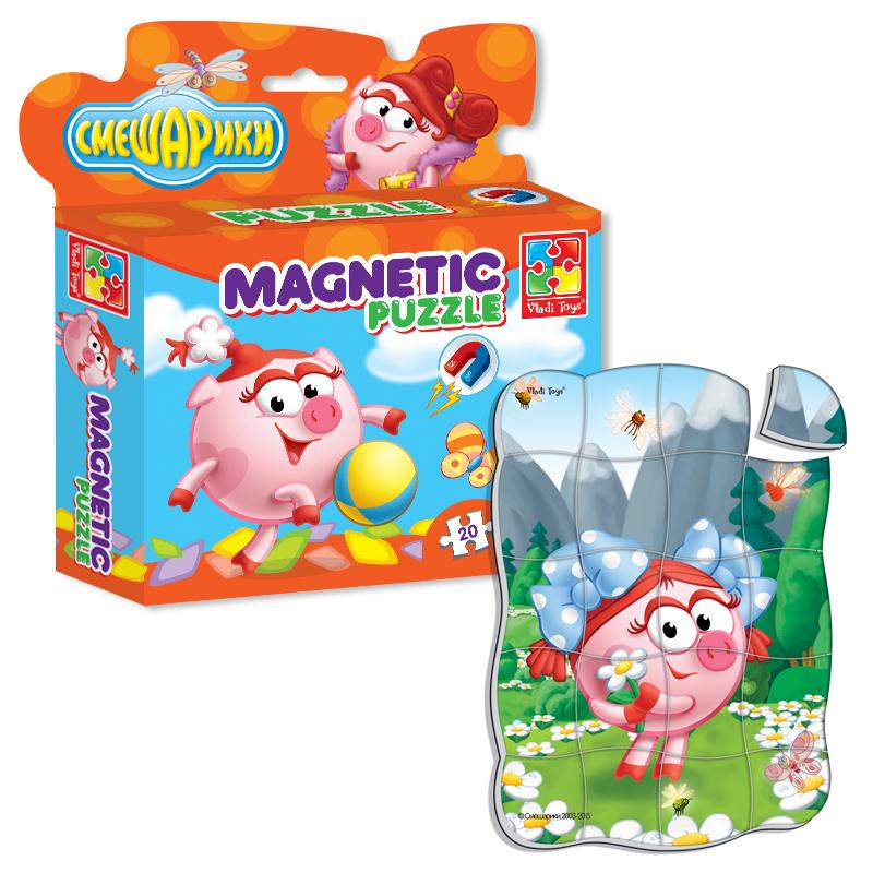 Игрушка Vladi Toys Магнитные фигурные пазлы Смешарики Нюша VT1504-28<br>