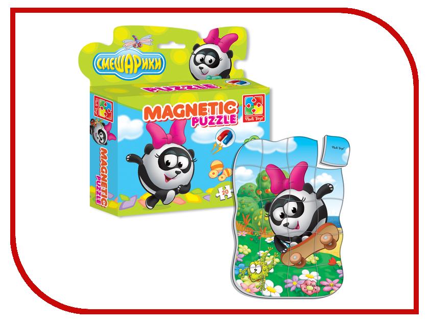 Игрушка Vladi Toys Магнитные фигурные пазлы Смешарики Панди VT1504-29