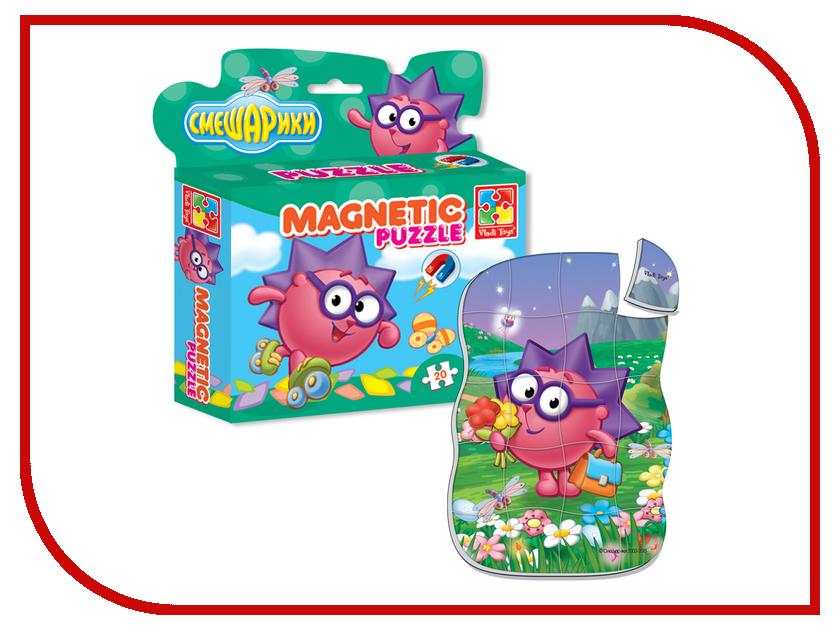 Игрушка Vladi Toys Магнитные фигурные пазлы Смешарики Ежик VT1504-30<br>