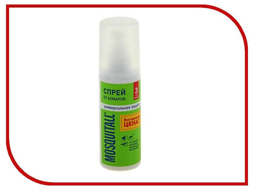 Средство защиты от комаров Mosquitall Универсальная защита 100ml 1155295 - спрей средства от насекомых mosquitall аэрозоль универсальная защита от комаров 150 мл