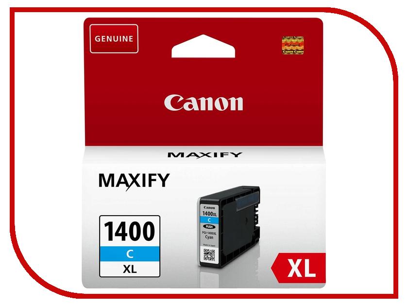 Картридж Canon PGI-1400C XL Cyan для MAXIFY МВ2040/МВ2340 9202B001 картридж canon pgi 1400xl m для maxify мв2040 и мв2340 пурпурный 900 стр