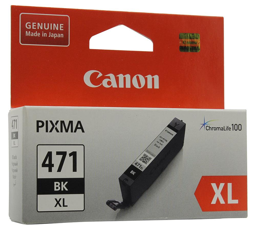 Картридж Canon CLI-471BK XL Black для MG5740/MG6840/MG7740 0346C001 картридж струйный canon cli 471y 0403c001 желтый для canon pixma mg5740 mg6840 mg7740