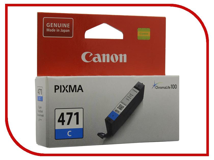 Картридж Canon CLI-471C Cyan для MG5740/MG6840/MG7740 0401C001 картридж canon cli 8c для ip4200 ip5200 0621b024