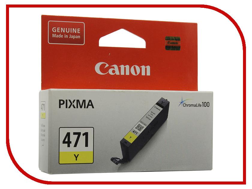 Картридж Canon CLI-471 Yellow для MG5740/MG6840/MG7740 0403C001<br>